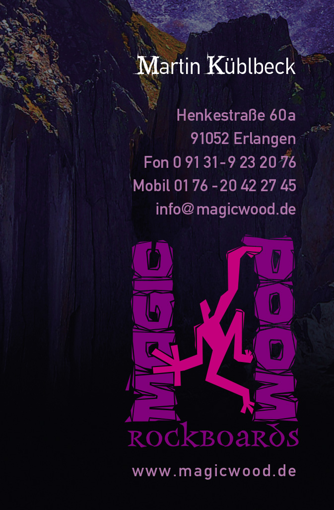 MagicWood · Visitenkarte