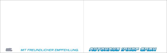 Autohaus Imhof GmbH · Klappkarte innen