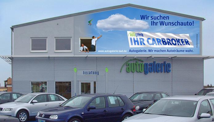 Autogalerie GmbH · Außenwerbung
