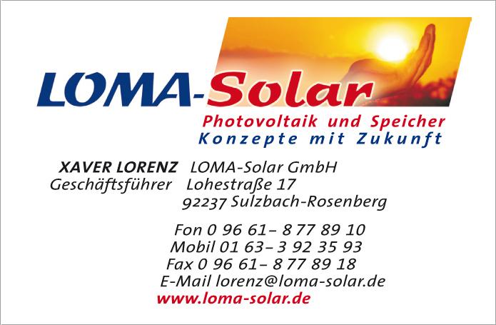 Loma-Solar GmbH · Visitenkarte