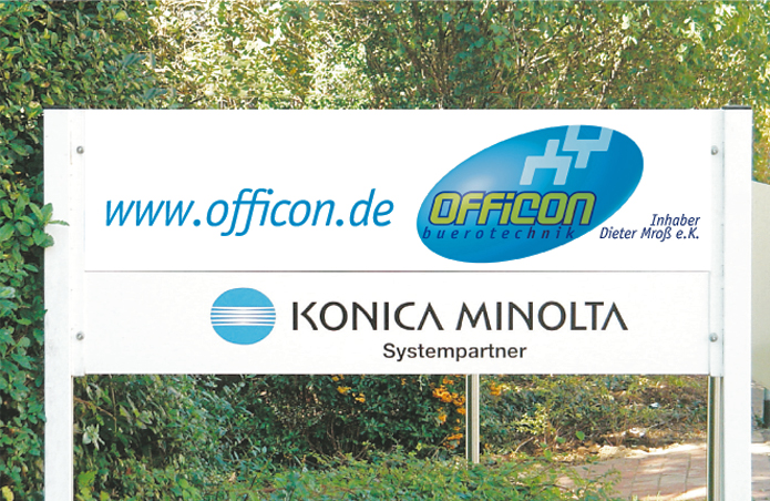 Officon · Firmenschild